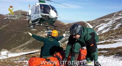 rescate en montaña